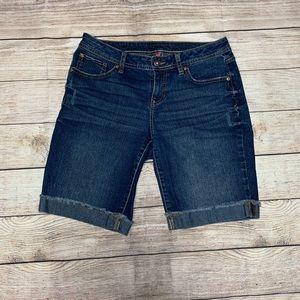 Apt. 9 blue jean bermuda shorts, denim